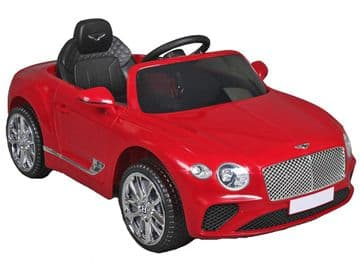 Bentley Continental GT Sports Licenced 12v Electric Ride on Car Red with Remote Control