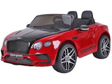 Bentley Continental Metallic Red Licenced 12v Electric Ride on Car + EVA Wheels