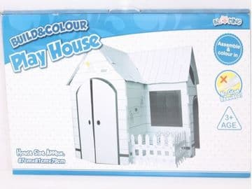 Colour In Cardboard Playhouse Build Decorate Play Toy