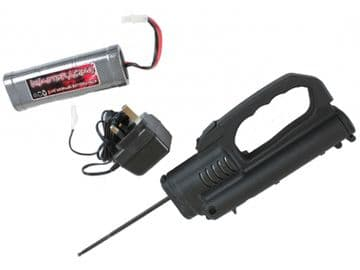 Electric Drill Roto Start for Nitro Engines Includes 7.2v Battery, Charger and Adapter Plate