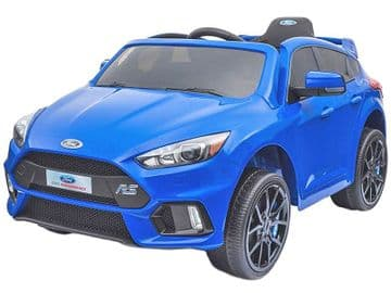 Ford Focus RS Licensed 12v Electric Ride on Car Blue with Parental Control
