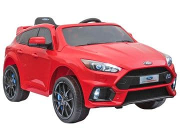 Ford Focus RS Licensed 12v Electric Ride on Car Red with Parental Control