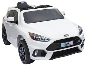 Ford Focus RS Licensed 12v Electric Ride on Car White with Parental Control
