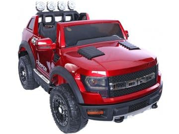 Ford Ranger Wildtrak Style Ride On Jeep 12v Electric Toy Car Red With Parental Control