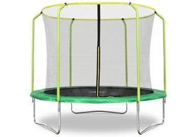 Fun Jump II 10ft x 2.4M Trampoline with enclosure safety net steel frame UV jump mat