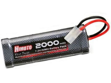 Himoto 7.2 volt 2000mAH NiMH 6 Cell Re-Chargeable Battery Tamiya Connector 3014