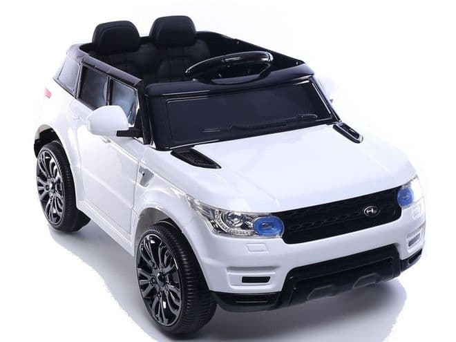 Junior Range Rover HSE Style White | 12v battery powered kids jeep sit & ride-in TOY car