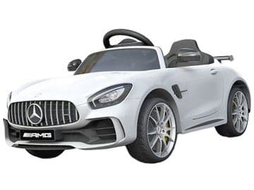 Mercedes Benz AMG GT R Official 12v Electric Ride on Car White with Remote Control