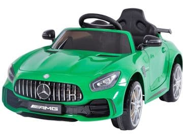 Mercedes Benz AMG GTR Green Official 12v Electric Ride on Car With Parental Control