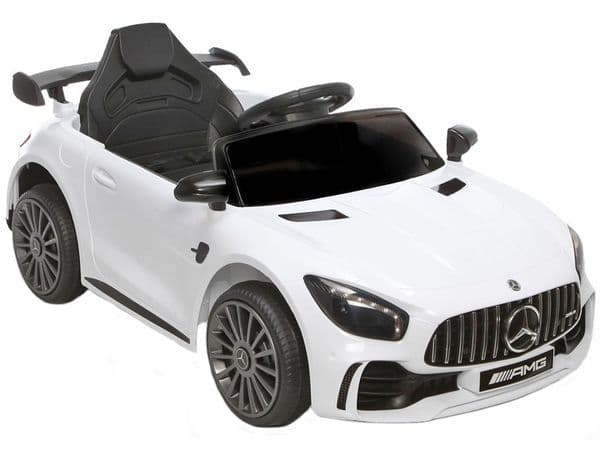 Mercedes Benz AMG GTR Official 12v Electric Ride on Car White with Remote Control