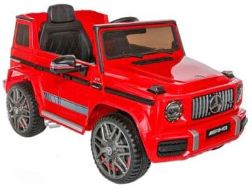 Mercedes Benz G63 AMG Jeep G Wagon Official Licensed 12v Electric Red Ride on Car