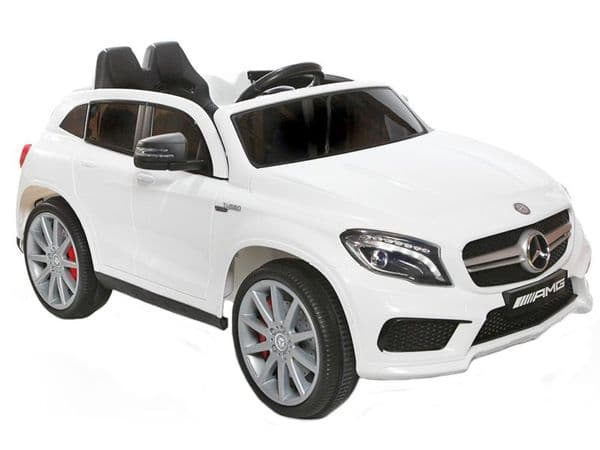 Mercedes Benz GLA AMG SUV Official Licensed White 12v Electric Ride on Car