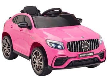 Mercedes Benz GLC63S AMG Official 12v Electric Kids Ride on Car Pink with Remote Control