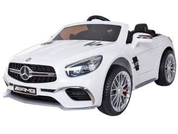 Mercedes Benz SL65 AMG Official 12v Electric Ride on Car White with Parental Control