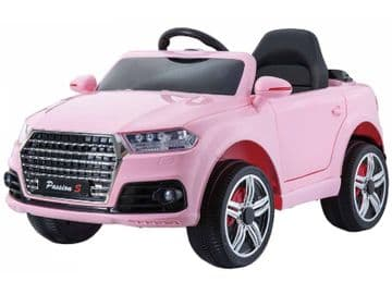 Midi Audi Q7 Style Ride On Jeep 12v Electric Toy Car Pink With Parental Radio Control