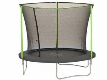 Plum 8ft Trampoline with enclosure safety net galvanised steel frame UV jump mat