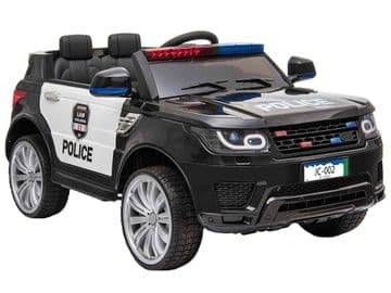 Police 911 Range Rover Style Black Jeep 12v Electric Ride On Car With Parental Radio Control