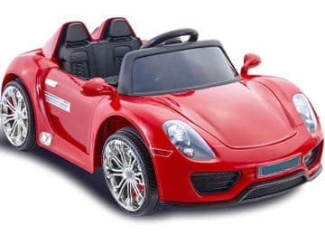Porsche 918 Spyder Style 12V Battery Powered Kids Ride on Car Red with Parental Control