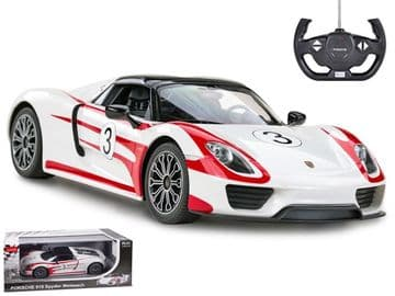 Porsche 918 Spyder Weissach Radio Control 1:14 Scale Official RC Model Toy Super Car White