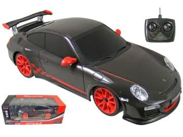 Radio Control Car Porsche 911 GT3RS in Black 1:18 Scale Official RC Model
