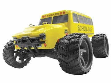 Radio Control Monster Truck SCHOOL BUS 1:18 Scale Pro Spec 7.2v 4WD Off Road Model