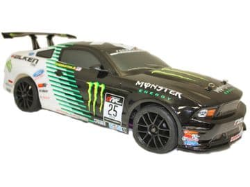 Radio Control NITRO Car 1:10 RACING MUSTANG 2 Speed 4wd SH18 Engine 2.4ghz