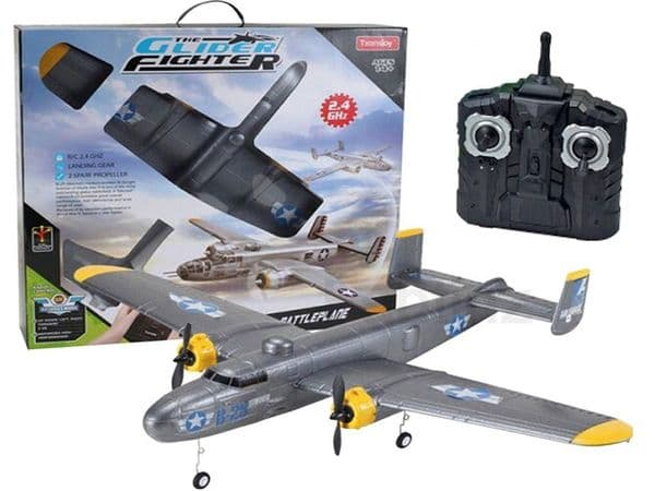 Radio Controlled Airplane B-25 Bomber Style EPP Glider Aircraft Flying RC Model 2.4ghz RTF