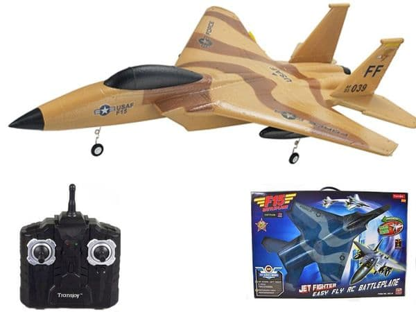 Radio Controlled Airplane F15 Style Fighter Aircraft EPP Glider Toy RC Model 2.4ghz