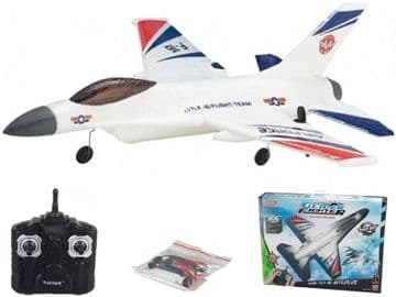 Radio Controlled Airplane Jet Fighter Style Motorised Glider RC Model 2.4ghz