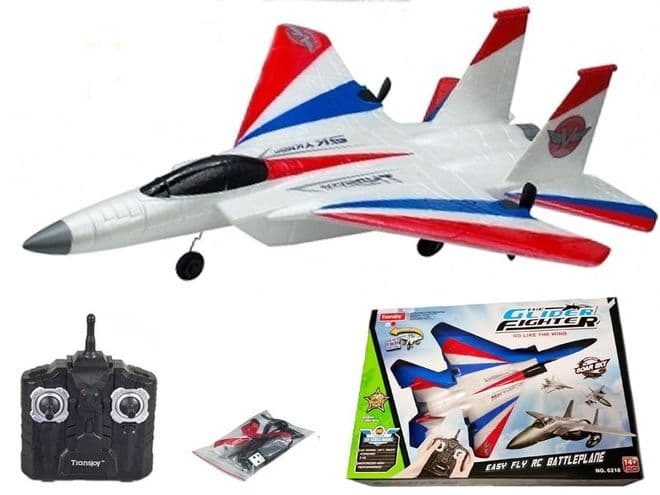 Radio Remote Control Model Airplane 6218 Glider Jet Fighter Military Aircraft Toy Flying Gadget 2.4ghz