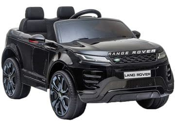 Range Rover Evoque Licensed 12v Electric Ride on Car Black with Parental Control