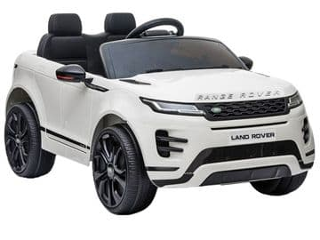 Range Rover Evoque Licensed 12v Electric Ride on Car White with Parental Control