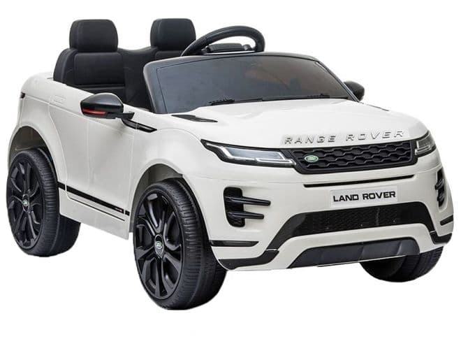 Range Rover Evoque White | Kids Sit On & Ride In Toy Car 12v Electric | TOY&MODEL
