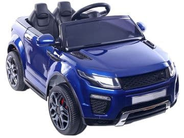 Range Rover Evoque Style Ride On Jeep 12v Electric Toy Car Blue With Parental Control