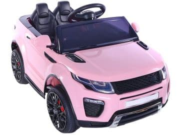 Range Rover Evoque Style Ride On Jeep 12v Electric Toy Car Pink With Parental Control