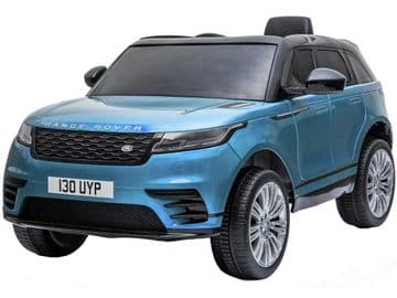 Range Rover Velar Metallic Blue Licensed 12v Electric Ride on Car + Leather Seat & EVA Wheels