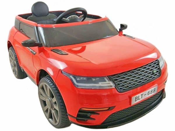 Range Rover Velar Style Red Jeep 12v Electric Ride On Car With Parental Radio Control