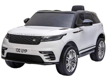 Range Rover Velar White Licensed 12v Electric Ride on Car  + Leather Seat & EVA Wheels
