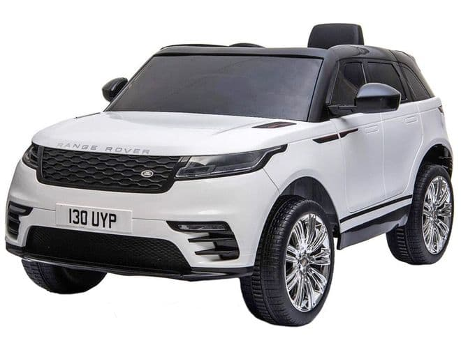 Range Rover Velar White | Kids Sit On & Ride In Toy Car 12v Electric | TOY&MODEL