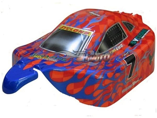RC Car Buggy Bodyshell  Red Blue 1/10 Scale Model  (10216)