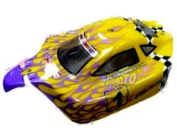RC Car Buggy Bodyshell Yellow Purple 1/10 Scale Model  (10211)
