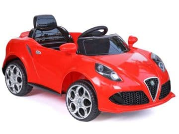 Ride on Car 12v Electric Alfa Romeo Style Sports Roadster with Parental Radio Control Red