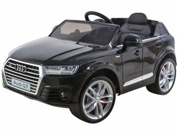 Ride on Car 12v Electric Audi Q7 Official Model with Parental Radio Control Black