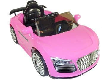 Ride on Car 12v Electric Audi R8 Style Sports Couple Pink Colour with Parental Radio Control