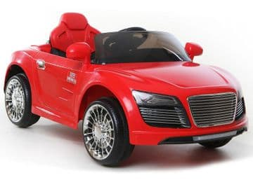 Ride on Car 12v Electric Audi R8 Style Sports Couple Red Colour with Parental Radio Control