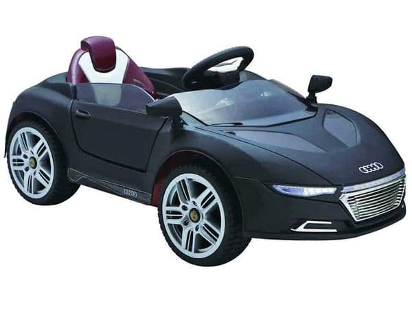 Ride on Car 12v Electric Audi R8 Style Supercar Black Colour with Parental Radio Control