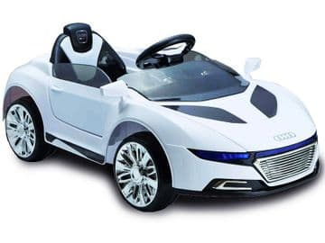 Ride on Car 12v Electric Audi R8 Style Supercar White Colour with Parental Radio Control