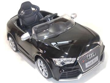 Ride on Car 12v Electric Audi RS5 Official Licensed Model in Black with Parental Control