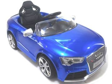 Ride on Car 12v Electric Audi RS5 Official Licensed Model in Blue with Parental Control