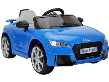 Ride on Car 12v Electric Audi TT RS Official Licensed Model in Blue with Parental Control